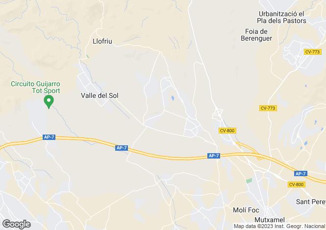 Map for Muchamiel, Alicante, Valencia