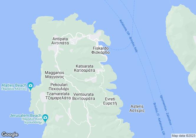 Map for Tselentata, Cephalonia, Ionian Islands