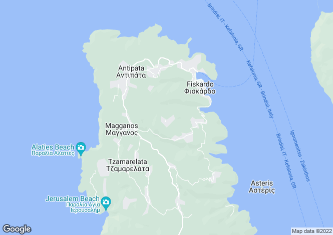 Map for Katsarata, Cephalonia, Ionian Islands