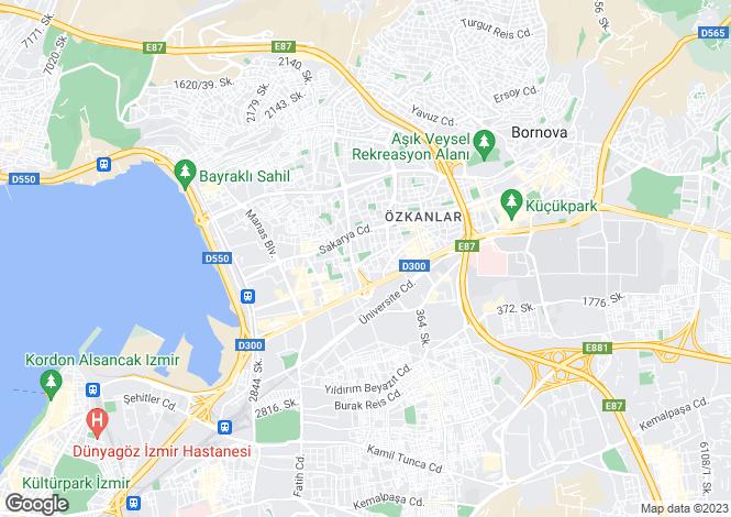 Map for Bornova, Bornova, Izmir