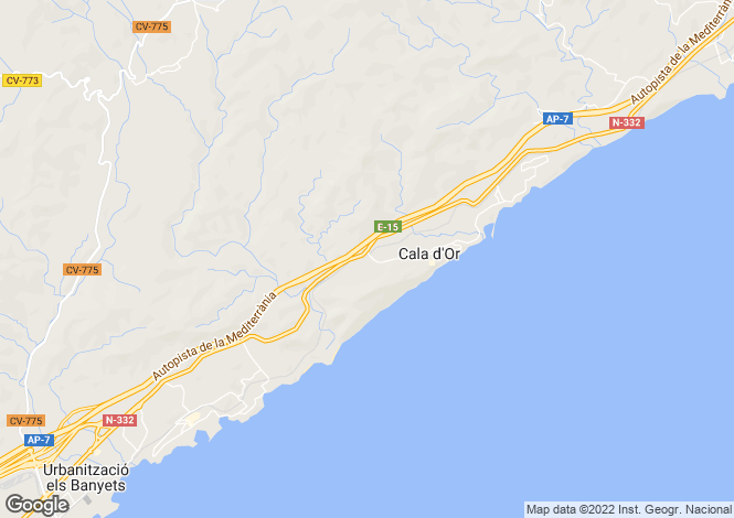 Map for El Campello, Alicante, Valencia