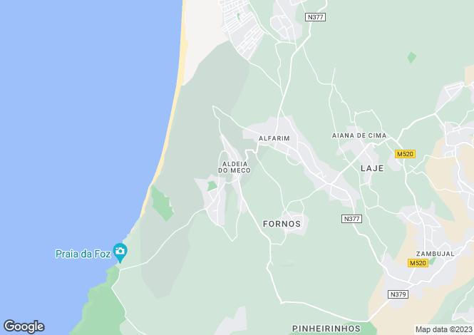 Map for Setúbal, Sesimbra