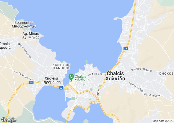 Map for Chalkida, Evvoia