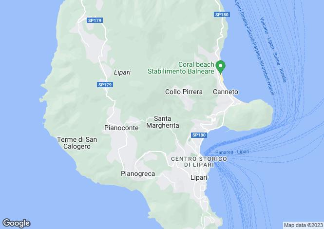 Map for Lipari, Messina, Sicily