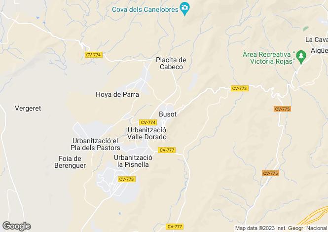 Map for Busot, Alicante, Valencia