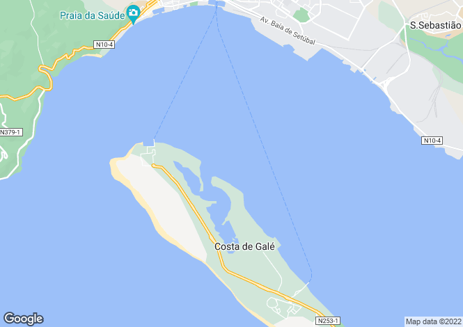 Map for Troia, Lisbon, Portugal