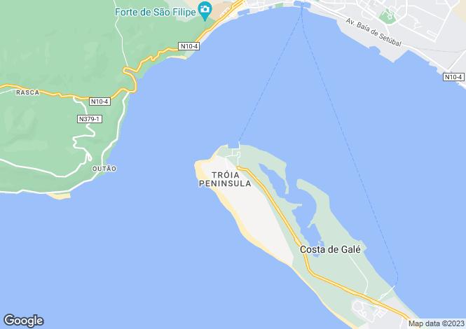 Map for Troia, Setubal, Portugal, 7570-789