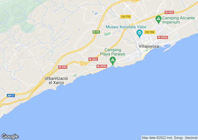 Map for Villajoyosa,