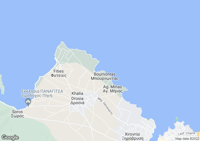 Map for Drosia, Evvoia