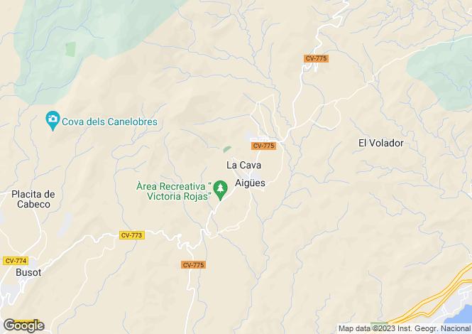 Map for Valencia, Alicante, Aguas de Busot