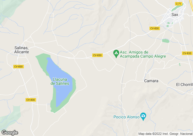 Map for Paraje Camara Poligono 6, 314, Salinas