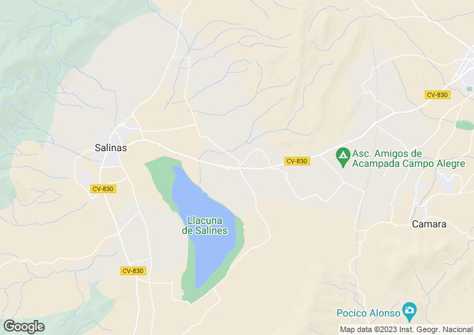 Map for Salinas, Alicante, Valencia