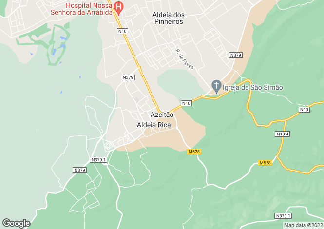 Map for Setúbal, Setúbal