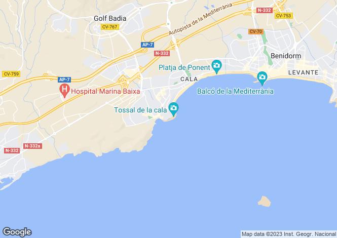 Map for Benidorm, Spain