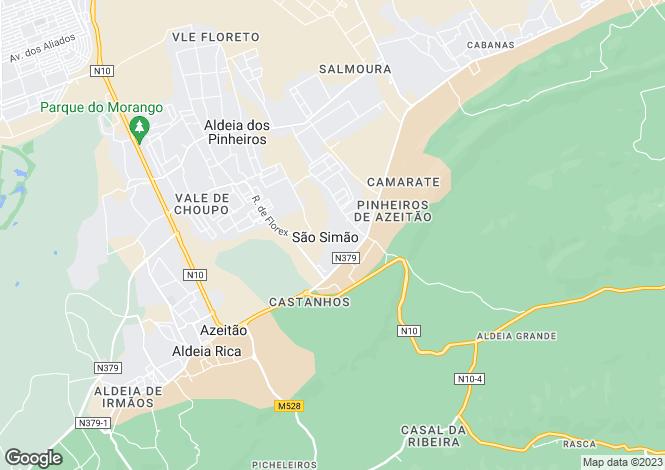 Map for Vendas de Azeitão, Estremadura