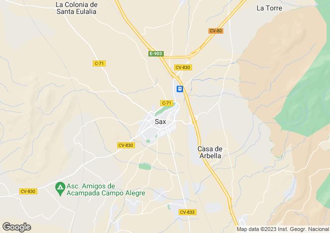 Map for Sax, Alicante, Spain