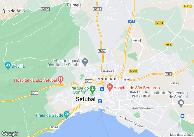 Map for Setubal, Lisbon, Portugal