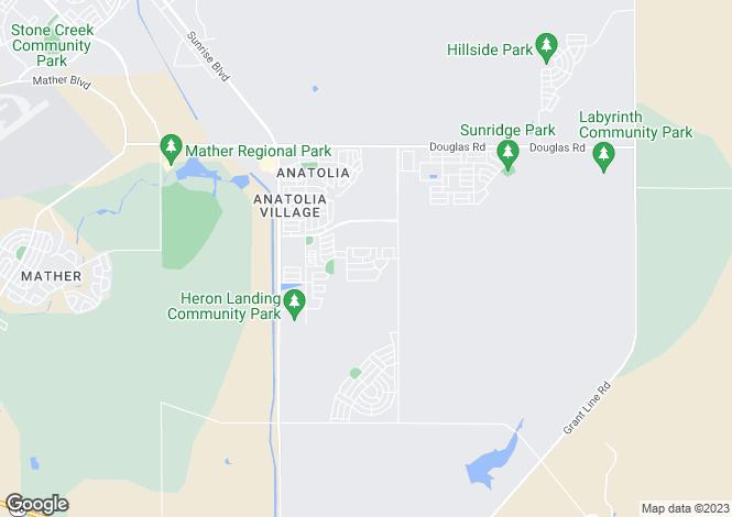 Map for California, Sacramento County, Rancho Cordova