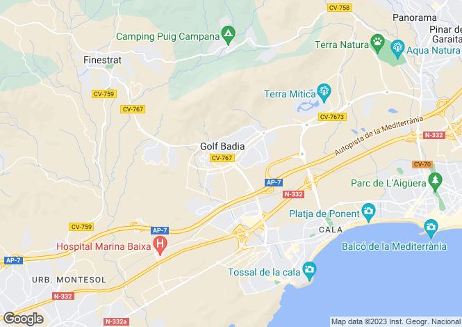 Map for Benidorm, Benidorm, Alicante