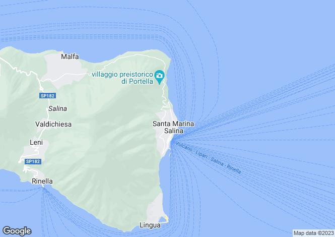 Map for Santa Marina Salina, Messina, Sicily