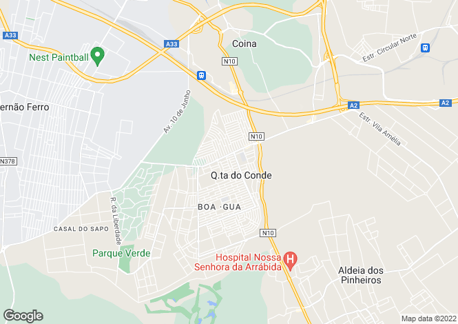 Map for Quinta do Conde, Sesimbra, Setúbal