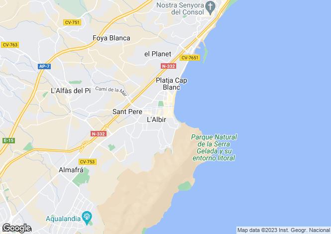Map for Albir, Spain