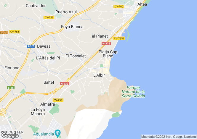 Map for Albir, Spain