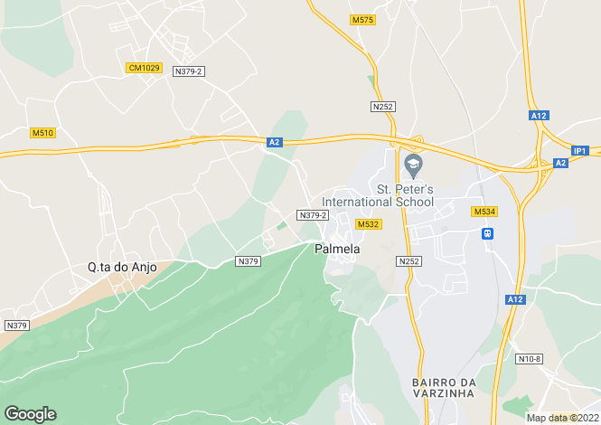 Map for Portugal,Setúbal,Palmela