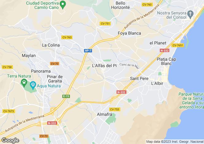 Map for L`Alfàs del Pi, Alicante, Valencia