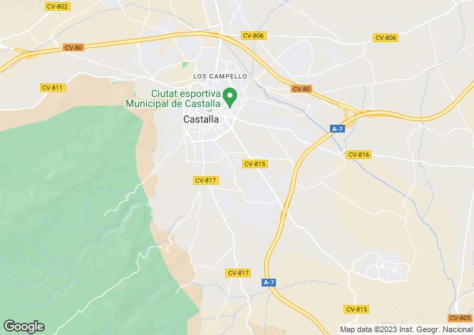 Map for Castalla, Alicante, Spain