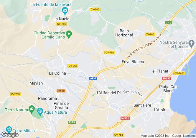 Map for Valencia, Alicante, L`Alfàs del Pi