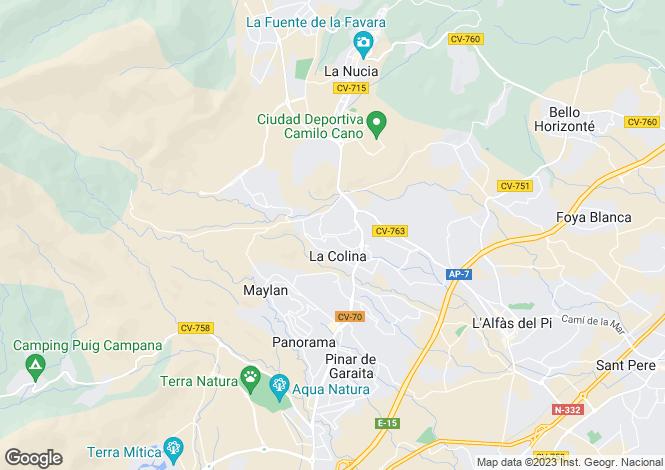 Map for La Nucia, Spain