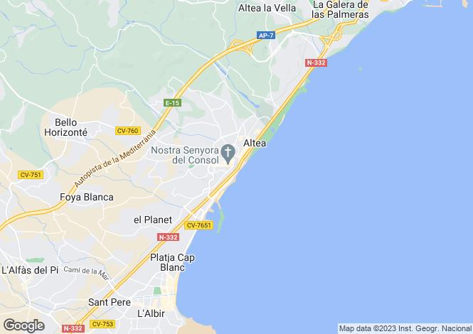 Map for Altea, Spain
