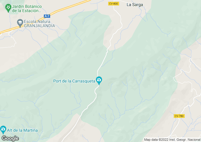Map for Jijona-Xixona, Alicante, Valencia