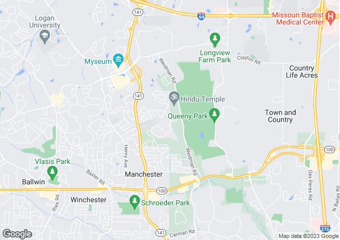 Map for USA - Missouri, St Louis County, Ballwin
