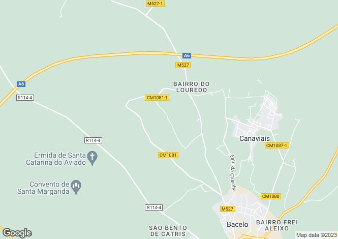 Map for Bacelo e Senhora da Saúde, Évora, Évora