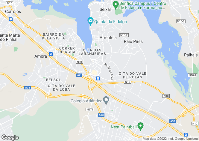 Map for Setúbal, Seixal