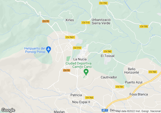 Map for La Nucia, la Nucia, Alicante