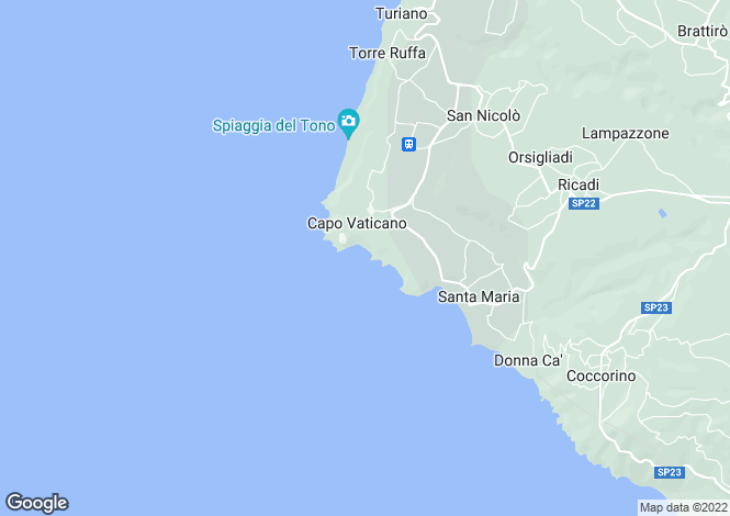 Map for Capo Vaticano, Vibo Valentia, Calabria
