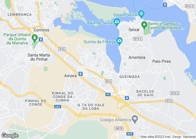 Map for Setúbal, Amora