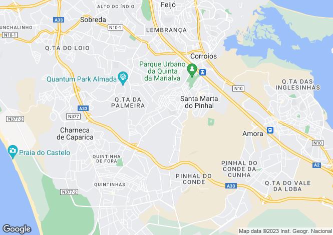 Map for Portugal,Setúbal,Seixal