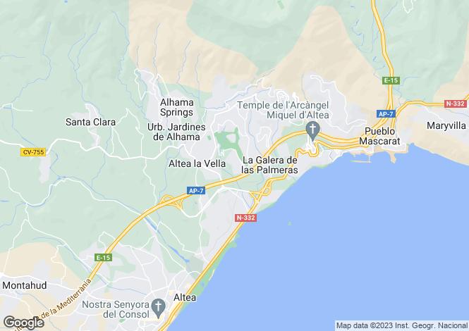 Map for Valencia, Alicante, Altea La Vella