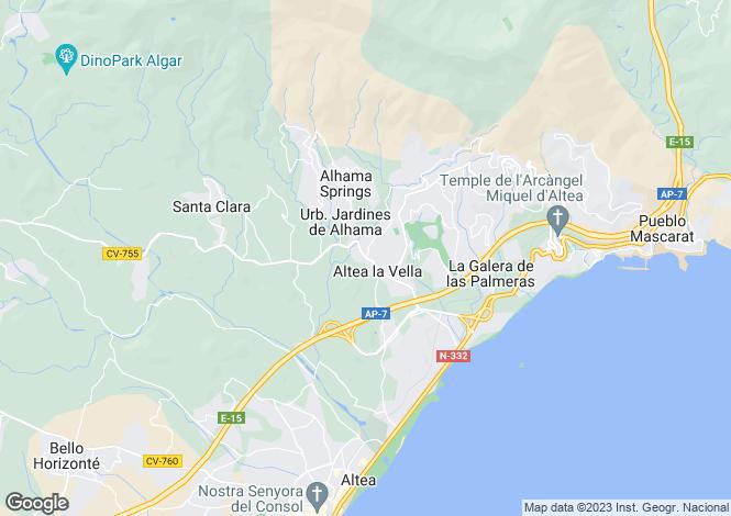 Map for Altea La Vella, Valencia, 03724, Spain