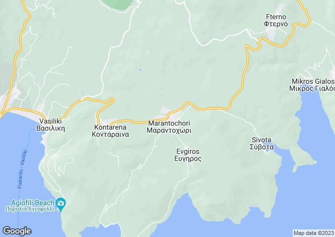 Map for Vasiliki, Lefkada, Ionian Islands