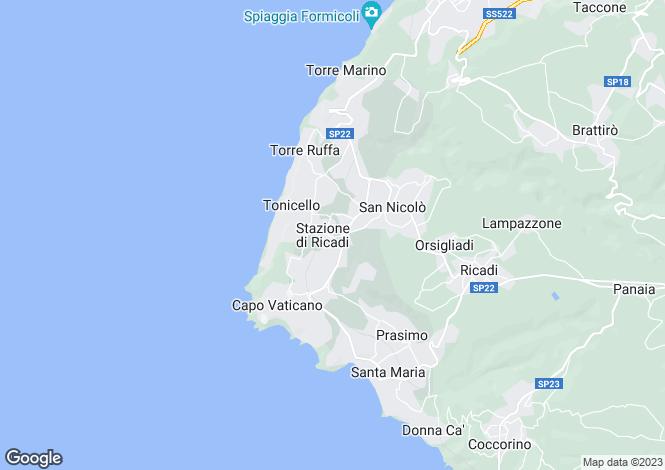 Map for Calabria, Vibo Valentia, Ricadi
