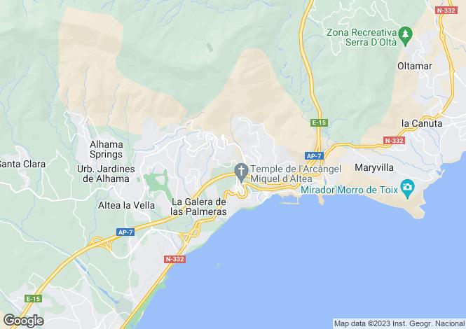 Map for Altea, Altea, Alicante