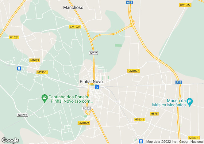Map for Portugal,Setúbal,Pinhal Novo