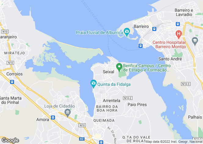 Map for Portugal,Setúbal,Seixal