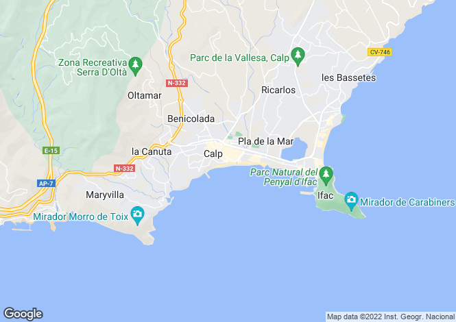 Map for Calpe,