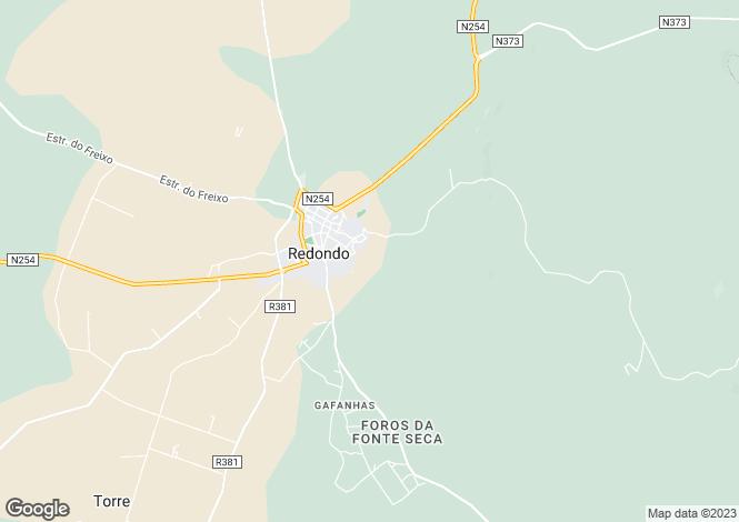 Map for Redondo, Alto Alentejo